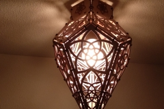 big dodecahedron with light ceiling