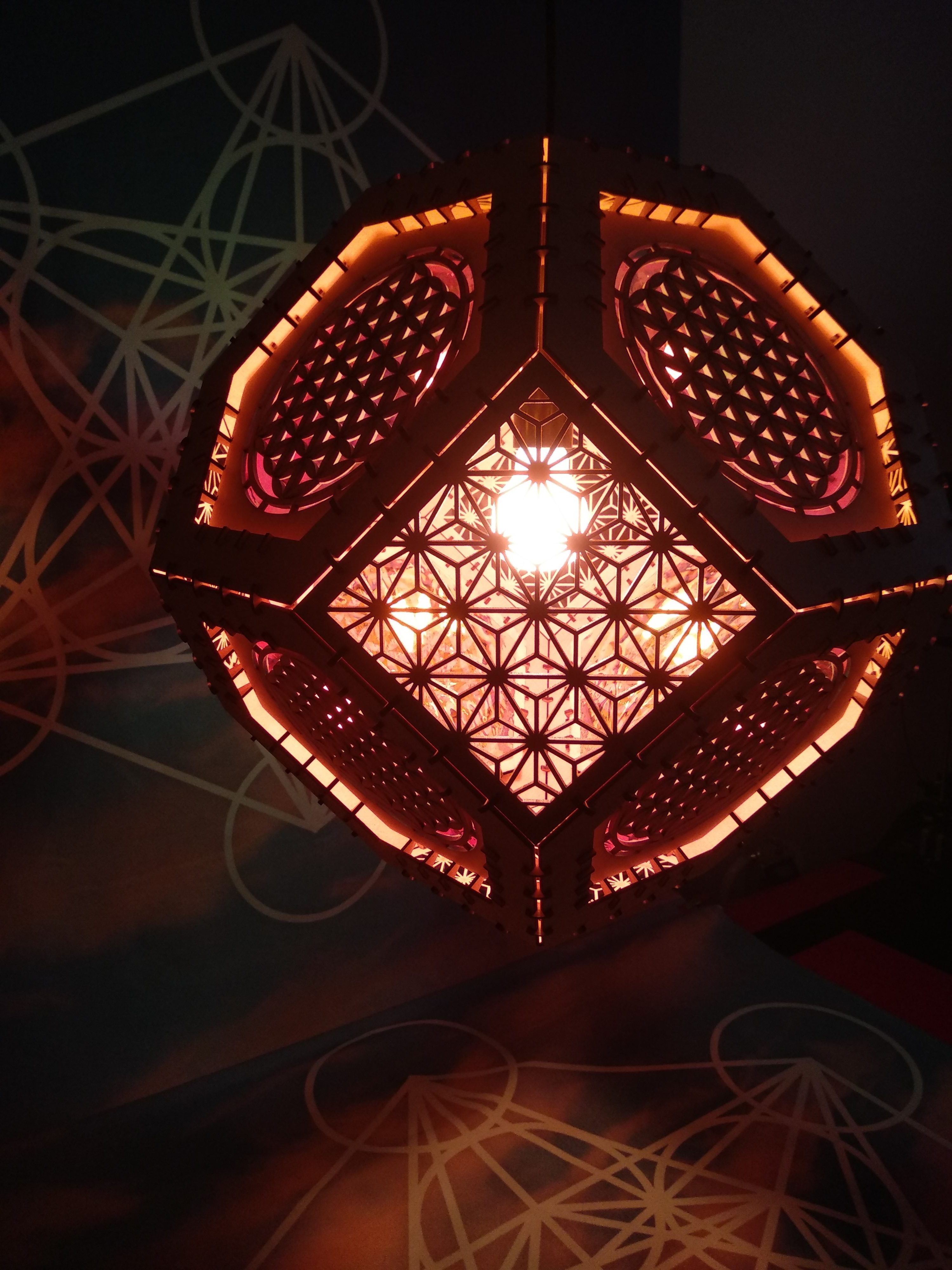 Flower Of Life Hanging Lamp One
